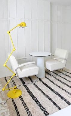 high-road-striped-rug.jpg different colored chairs but like the style