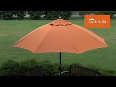 How to Sew a Patio Umbrella Video - starts with how to calculate fabric needed and then has a detailed tutorial. From sailrite.com. They have a LOT of tutorial videos.