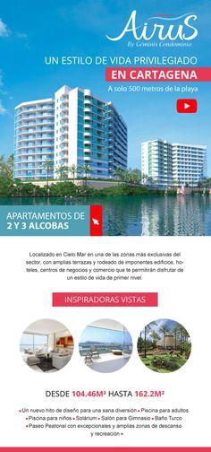 #NOVOCLICK esta con #Airus #Apartamentos en Cartagena E-mail Marketing, Shopping, Condos, Apartments, Single Wide, Cartagena, Lifestyle, Decks, Buildings
