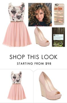 """blush"" by maddysleepy ❤ liked on Polyvore featuring Jessica Simpson and Casetify"