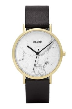 Cluse Watche // La Roche Gold White Marble/Black CL40003 // $249 160114