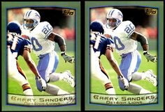 DETROIT LIONS LOT OF 2 1999 TOPPS JUMBO BARRY SANDERS NUMBER 1 FREE SHIPPING #DetroitLions