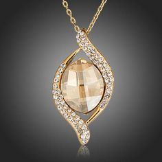 There is always many products on sae upto - AZORA Gold Color Big Champagne Stellux Austrian Crystal Pendant Necklace - Pro Shopperz Rhinestone Necklace, Crystal Rhinestone, Hippie Jewelry, Crystal Pendant, Crystal Ring, Crystal Drop, Diamond Pendant, Austrian Crystal, Perfume