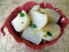 Glazed Turnips with Scallions & Parsley. Gluten free and #vegan.
