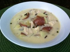 Another yummy chicken recipe!  :)  Chicken and Wild Rice Soup with Goat Cheese #chicken #wildrice #soup