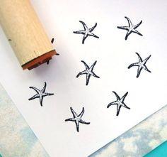 Sello de goma de estrella de mar