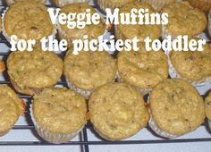 Veggie packed muffins for kids who won't eat vegetables