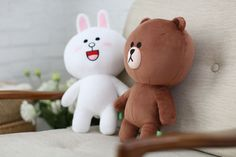 """LINE FRIENDS Character Plush Toy Doll BROWN Season 3 Bear Official Goods 13.7"""" #DollswithClothingAccessories"""