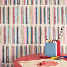 Sanderson  | Scribbler (DLIT214033) | Little Sanderson - Abracazoo Wallpapers - fun and versatile design of pencils in a row