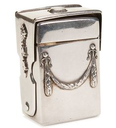 A unique Fabergé silver traveling inkwell, Moscow circa 1890.