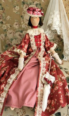 Tilda muñecas hechas a mano.  Masters Feria - té hecho a mano con mermelada.  Hecho a mano.