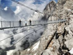 Over the clouds at Dachstein Glacier, near Schladming, Austria