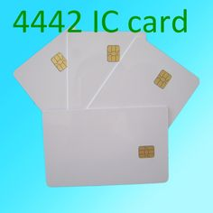 pack of 20 YARONGTECH IC en PVC Blanc carte SLE4442 Contact ISO7816 Vierge Smart IC Carte