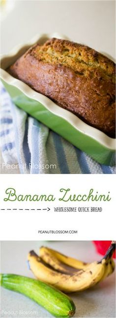 Easy homemade banana zucchini bread, perfect for freezing! Toast a slice and add a pat of butter for an amazing after school snack.
