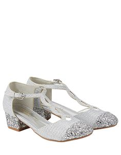 Put her dancing shoes on. These gorgeous T Bar Charleston sparkle shoes for girls have glitter toe caps and heels to put a shine in her step. Featuring a min. Flower Girl Shoes, Girls Shoes, Flower Girl Dresses, Ladies Shoes, Glitter Toes, Monsoon Uk, Sparkle Shoes, Bridesmaid Shoes, Princess Outfits