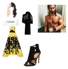 """going out with Seth Rollins"" by nykirafisher1920 ❤ liked on Polyvore featuring Carolina Herrera"