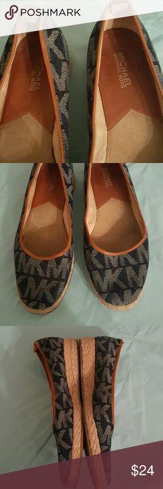 Michael Kors Nice Denim with leather trim espardilles. Good shape. Firm Price. Shoes Espadrilles