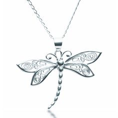 Silver Dragonfly Pendant Necklace | Zaffre Silver Jewellery | Australia