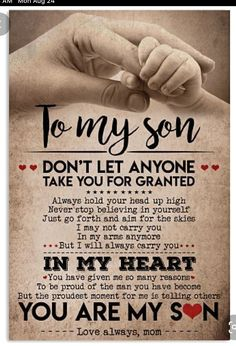 Son Quotes From Mom, Mother Son Quotes, Love My Kids Quotes, Mothers Love Quotes, My Children Quotes, Mommy Quotes, Daughter Quotes, Wise Quotes, Inspirational Quotes