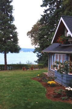 The Pine Cottage rental overlooking Saratoga Passage, Langley, Whidbey Island, WA