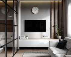 interior home decoration mod apk for android Classy Living Room, Living Room Grey, Living Room Decor, Painel Tv Sala Grande, Modern Interior, Home Interior Design, Tv Wanddekor, Living Room Tv Unit Designs, Tv Wall Decor
