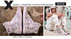 SUPRA Decade X Skytop 1 Layers: Celebrating our 10 year anniversary with Chad Muska's limited… #Skatevideos #Decade #LAYERS #Skytop #supra