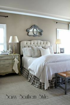 Love everything but the mirror over the bed...I would chose something a little different.