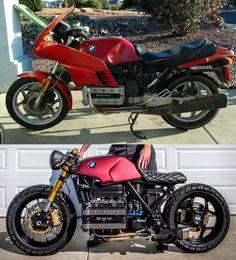 BMW cafe racer - Cars and motor Bmw Cafe Racer, Cafe Racer Build, Cafe Racers, Auto Design, Design Autos, K100 Scrambler, Cafe Racer Motorcycle, Street Scrambler, Cafe Bike