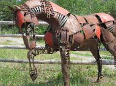 lifesize metal horse sculpture - Google Search