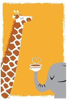 Giraffe and Elephante!