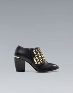 GOLD STUDDED ANKLE BOOT - Shoes - Woman - ZARA United States