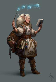 f High Elf Wizard Wand Magic Books potions Scrolls traveler ArtStation - Witch's Apprentice, Pedro Krüger Garcia