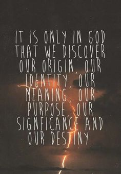 Who we are in Him.