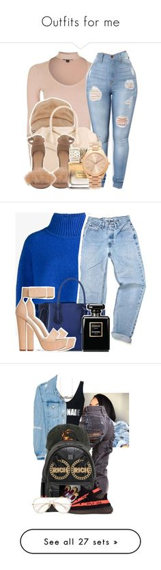"""Outfits for me"" by aditrysfasionout ❤ liked on Polyvore featuring Topshop, Givenchy, Michael Kors, Vika Gazinskaya, Longchamp, Boohoo, Acne Studios, MCM, adidas and NYX"