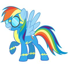 rainbow dash | Rainbow Dash with goggles by SierraEx