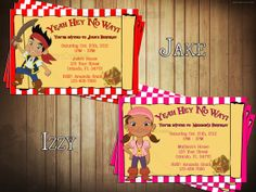 DIY Jake and the Neverland Pirates Birthday by NovelConceptDesigns, $12.50