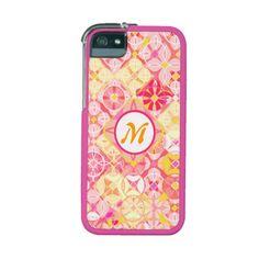 Monogram Pattern Concepts iPhone 5 / 5S Case #iphone #iphonecase #geometric #patterns #girly #pink #jamiecreates1 #zazzle