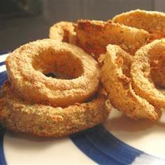 Baked Onion Rings... perfect for when I have an onion ring craving now that I'm staying far away from fried foods :-)