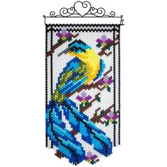 Herrschners® Blue Crowned Motmot Beaded Banner Kit