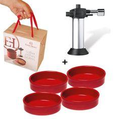 Набор форм для крем брюле с карамелизатором в подарочной упаковке Emile Henry