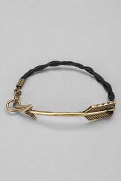 Curved Arrow Bracelet; I love this.