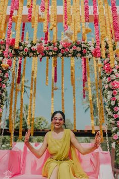 Simple & DIY Decor Ideas for your Mehendi/Haldi function at Home. With Backdrops and Flowers, We have so many Ideas for you.#shaadisaga #indianwedding #mehendidecorideas #mehendidecorideasathome #mehendidecorideassimple #mehendidecorideasoutdoor #mehendidecorideasbackdrops #mehendidecorideasdiy #mehendidecorideasathometerrace #mehendidecorideasathomesimplediy #mehendidecorideassatgedecorations #mehendidecorideasbackdropphotobooths Goa Wedding, Sunset Wedding, Wedding Venues, Mehendi Decor Ideas, Mehndi Decor, Backdrop Decorations, Backdrops, Mehendi Night, Shyamal And Bhumika