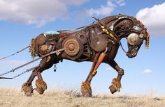 Draft Horse: Sculpture Welded Art  |  Artist:  John Lopez of LEMMON, South Dakota, USA  |  johnlopezstudio.com