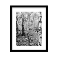 Railroad Photography Train Photography Black and by JamesClancy