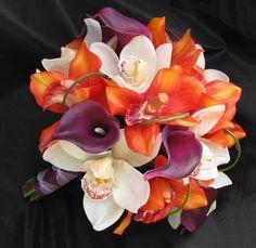 plum cream and orange wedding - Google Search