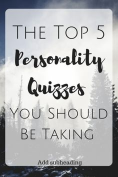 What's Your Personality? //