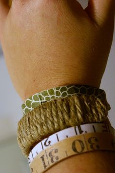 I love these bracelets made from popcicle sticks!  I think I will have to make some for gifts next Christmas!
