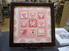 Love/Hearts Paper Stitch Sampler- by Craft Fancy. Valentines Frames, Valentine Crafts, Love Cards, Diy Cards, Paper Quilt, Frame Crafts, Paper Hearts, Homemade Cards, Collage Frames