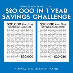 Savings Challenge, Money Saving Challenge, Savings Plan, 52 Week Savings, Savings Chart, Saving Money Chart, Saving Money Plan, Best Money Saving Tips, Money Savers