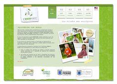 Desarrollo de sitio web para fibras ecológicas Recover, hilo 100% ecológico, 100% reciclado